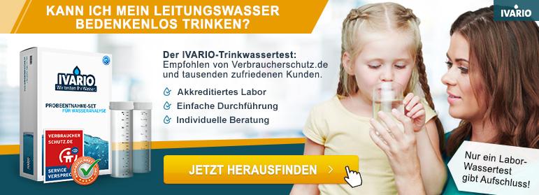 Ivario Trinkwasser Analysen - Banneranzeige mit Weiterleitung zum Ivario-Shop
